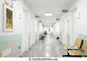 hospital hallway - hospital indoor, hallway and seats