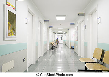 hospital hallway - hospital indoor,hallway and seats
