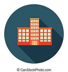 Hospital icon cartoon. Single building icon from the big city infrastructure set.