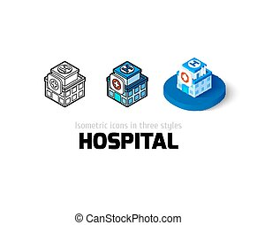 Hospital icon in different style
