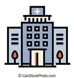 Hospital LineColor illustration