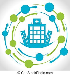 hospital medical center design, vector illustration eps10 ...