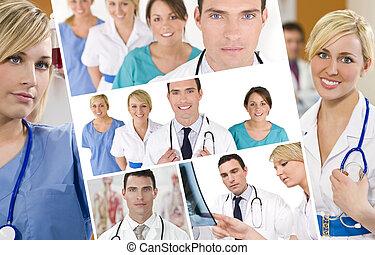Hospital Medical Team Doctor & Nurses Men Women