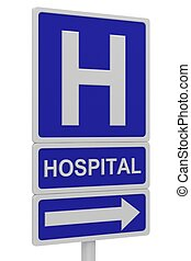hospital, muestra del camino