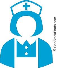 Hospital nurse icon - Hospital nurse vector icon