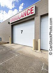 Hospital Parking Garage With Number Seven
