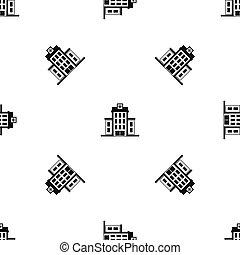 Hospital pattern seamless black