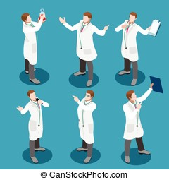 Hospital People Isometric - Healthcare medical staff...
