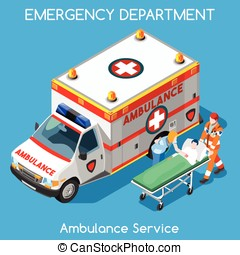 Hospital People Isometric - Clinic Emergency Department...