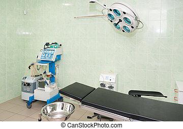 hospital., pokój, room., medyczny, nowoczesny, urządzenia, wyposażenie, chirurgiczny, operowanie