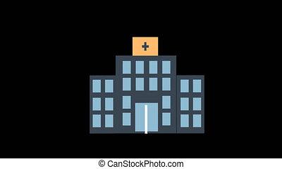 Hospital Pop Up Building Animation