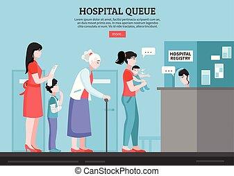 Hospital Queue Illustration