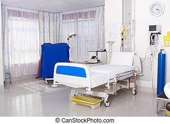 hospital room - spotless hospital room interior