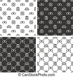 Hospital Seamless Pattern Set