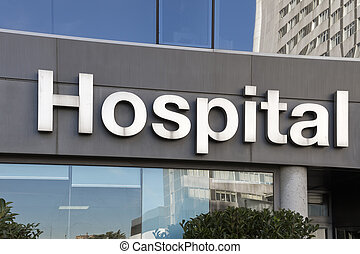 "Hospital sign - A photo of a ""hospital"" sign"