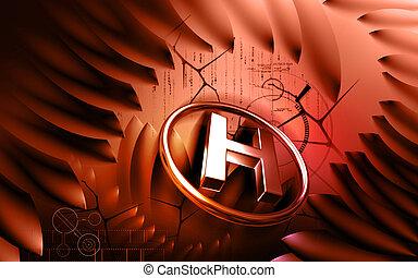 Hospital sign - Digital illustration of hospital sign in...