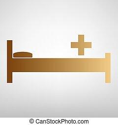 Hospital sign. Flat style icon