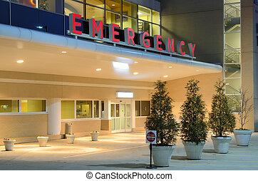 Hospital - Emergency room entrance at a hospital.