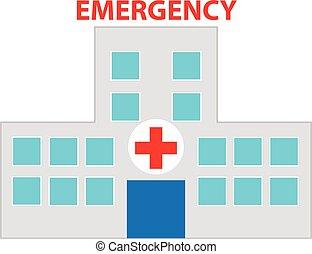 Hospital symbol on white background. Vector illustration