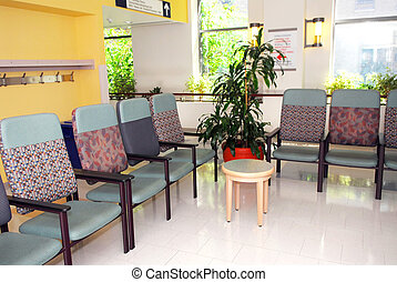 Hospital waiting room - Hospital or clinic waiting room with...