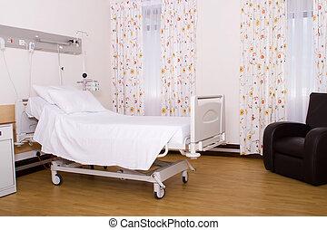 sterile hospital room in private ward