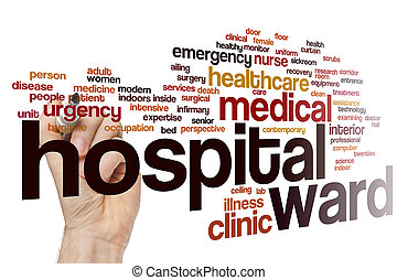 Hospital ward word cloud concept