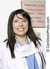 Hospital worker in Maternity ward