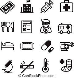 hospitalar, ícones, jogo