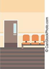 hospitalar, corridor., fundo