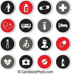 hospitalar, jogo, ícones