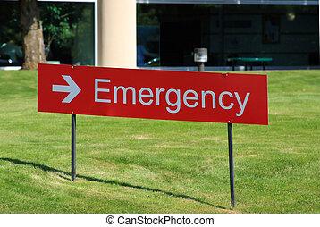 hospitalet, nødsituation rum, tegn