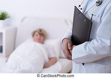 hospitalet, patient, doktor