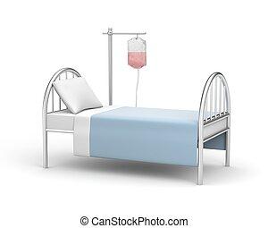Hospitalization - Medical concept. Isolated on white