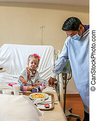 Hospitalized Girl - Recovering Little baby girl hospitalized...
