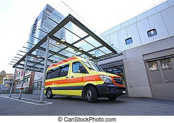 hospital's, 入口, 緊急事態, 部屋