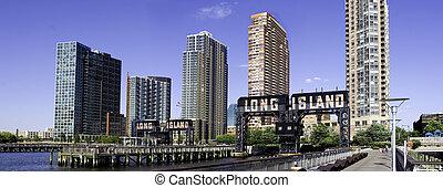 hosszú sziget város, láthatár