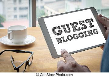 host, blogging