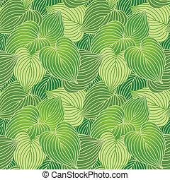 Hosta Leaf Pattern Green - Vector seamless pattern of hosta ...