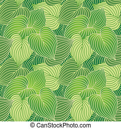 Hosta Leaf Pattern_Green - Vector seamless pattern of hosta...