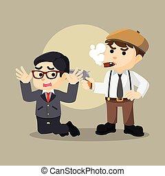 hostage mafia man illustration