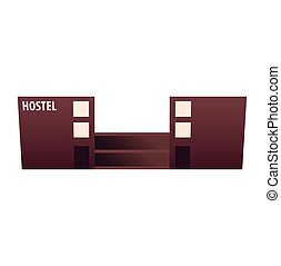 Hostel building. Guest house. Hotel building. Travel. - ...