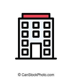 hostel flat color icon