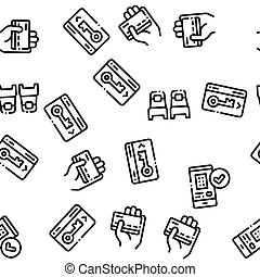 Hostel Seamless Pattern Vector. Building Hostel And...