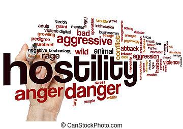 hostilidad, palabra, nube