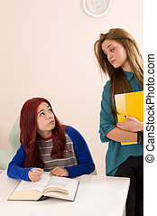 Hostile attitude between two female classmates