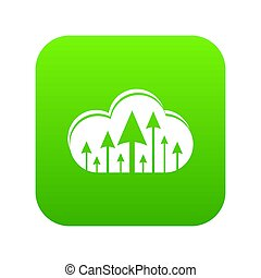 Hosting cloud icon green