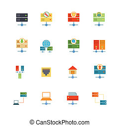 Hosting Flat Icons