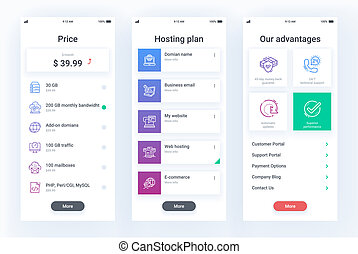 hosting, móvil, app