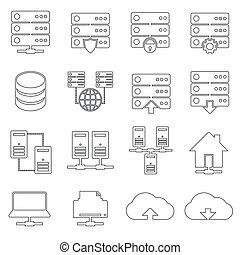 Hosting Network Icons