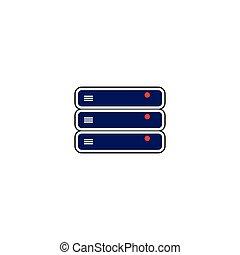 Hosting server stack template vector
